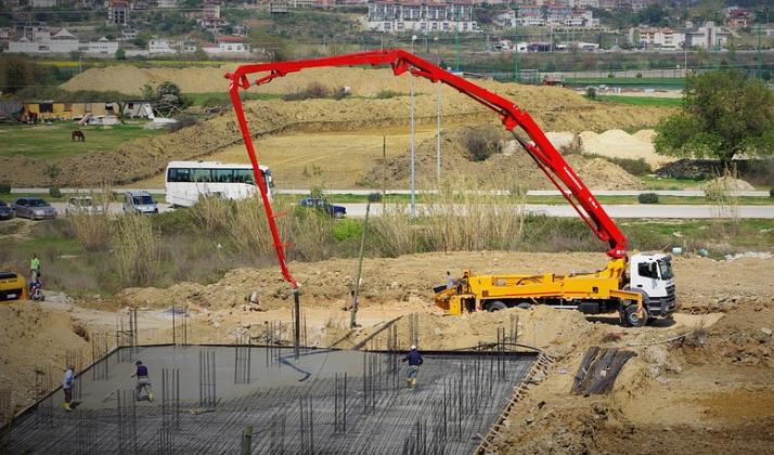 this image shows concrete pumping line norcal